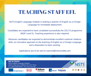 Job Ad Teacher NSTS