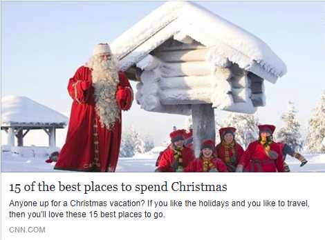 CNN Christmas Travel Recommendation